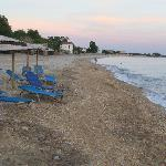 The nearby beach, supposedly the best in Lesvos