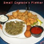 Small Captains platter ( after a few bites, sorry)