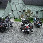 Bikes in front of B&B