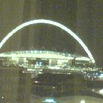 Wembley at night from the hotel