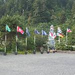 The flags outside the Ravenwood