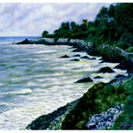 Baby Beach Kannur-A Painting by Artist Vijayakumar