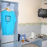 Small desk and wardrobe