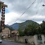 """Hotel Byzantio"" sign outside"