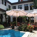 Peaceful pool at Aspen Hotel