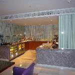 Executive lounge serving area