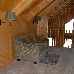 Wilderness Suite: Loft reading area overlooking the dining room