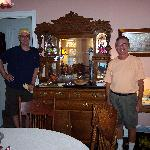 Asst. Innkeeper Eric and owner Don serve breakfast