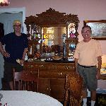 Asst. Innkeeper Eric and owner Don serve breakfast
