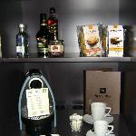 Minibar with nespresso
