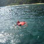 At one of the snorkeling spot