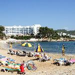 Hotel viewed from the beach