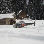 Helicopter in DEEP snow