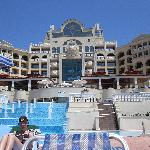 View of Marina Palace from pool