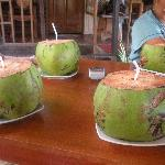 Fresh coconut at the restobar