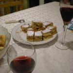 Welcomedrink and cake!