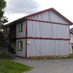 One of the buildings with rooms