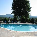 Swimming pool at the Highland Manor Inn