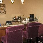 Atium suite- bar/ living room area