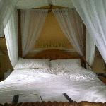 The bed in the Linley Room