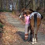 moi et mon cheval dans la foret de soignes :)