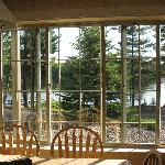View from kitchen of lodge home