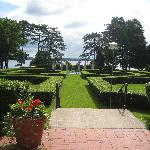 View of the gardens.