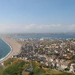 Chesil Beach from Tout Quarry