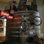 Old beer barrel from Stevens Point Brewery used as front door