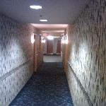 Walkway with wallpaper