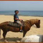 One of my boys on his horse