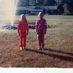 Me and a F.P. pal in front of the fountain (circa 1984)