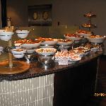 Part of the wonderful cold breakfast buffet.