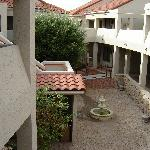 one of many courtyards