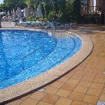 Ramp to pool