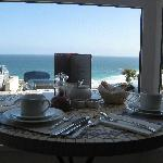 Breakfast table with view