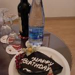Birthday cake on arrival