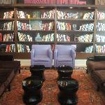 Hotel lobby and library