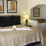 Bedroom of Beachfront Deluxe timeshare room
