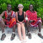 friendly masai guards working at Pongwe beach resort