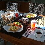 Breakfast cooked in villa
