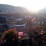 Sunrise from the garden at the Panza del Artista