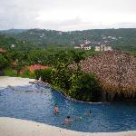 View from above pool