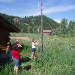 Raising of the flag for the 4th of July