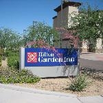 HIlton Driveway Entrance Sign~June 2009