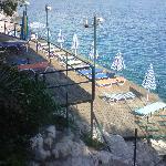 Plattform am Wasser