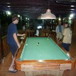 a view from the pool table. directly in the center back of the picture is where you'd watch sate