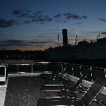 Top deck of boat