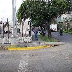 Street scene around hotel.