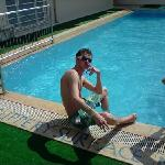 iain at pool